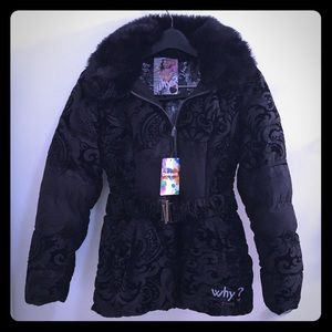 DESIGUAL Black Down Winter Coat -with Tags!